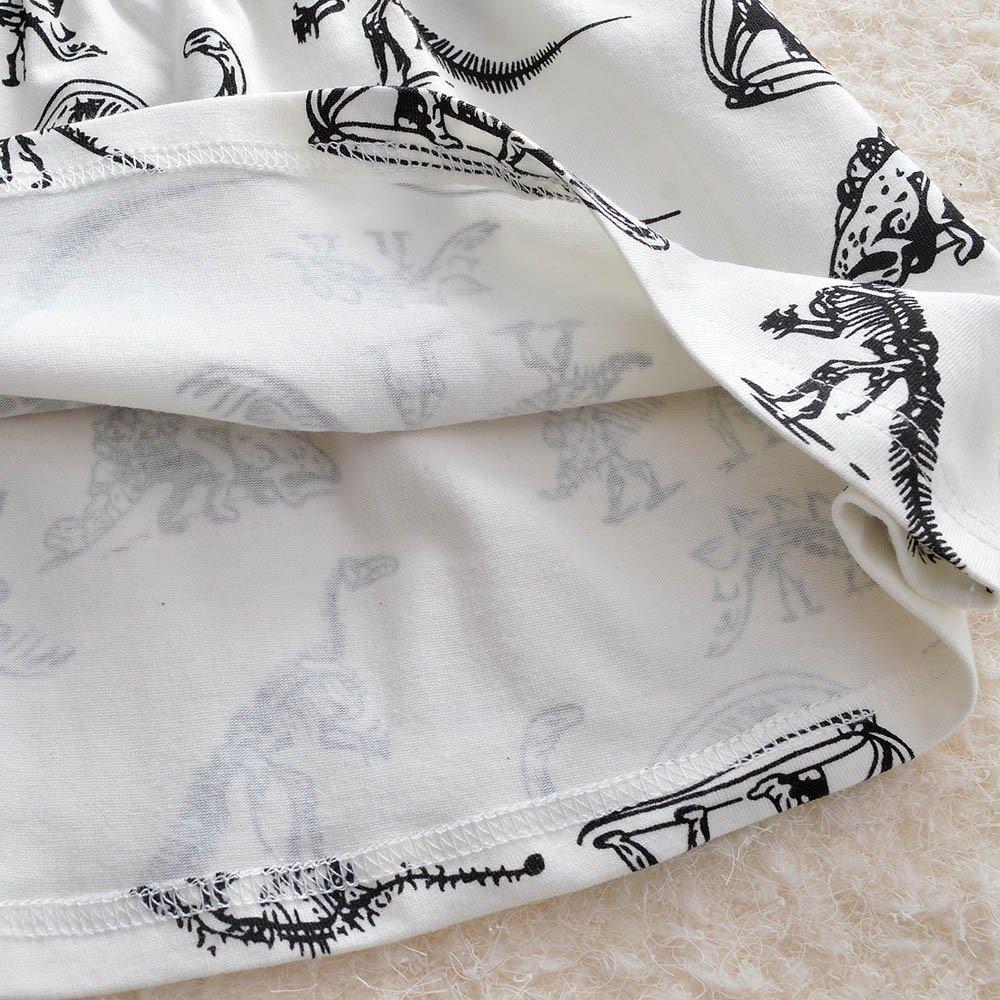 JUTOO Kleinkind-S/äuglingsbaby-M/ädchen-Karikatur-Dinosaurier-Druck-Sommer-Kleiderausstattungen