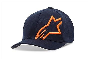Alpinestar Corp Shift 2 Gorra Flexfit Visera Curva Logo Bordado 3D, Hombre, Navy/Orange, LXL: Amazon.es: Deportes y aire libre