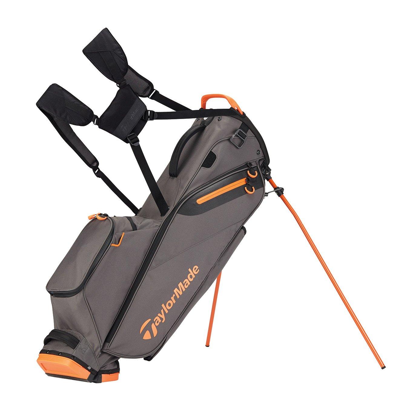 TaylorMade Golf Flextech Lite Stand Bag Gray/Orange (Grey/Orange)