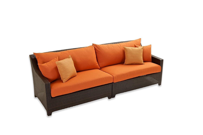 Amazon.com: RST marcas Deco sofá de 2 piezas con cojines ...