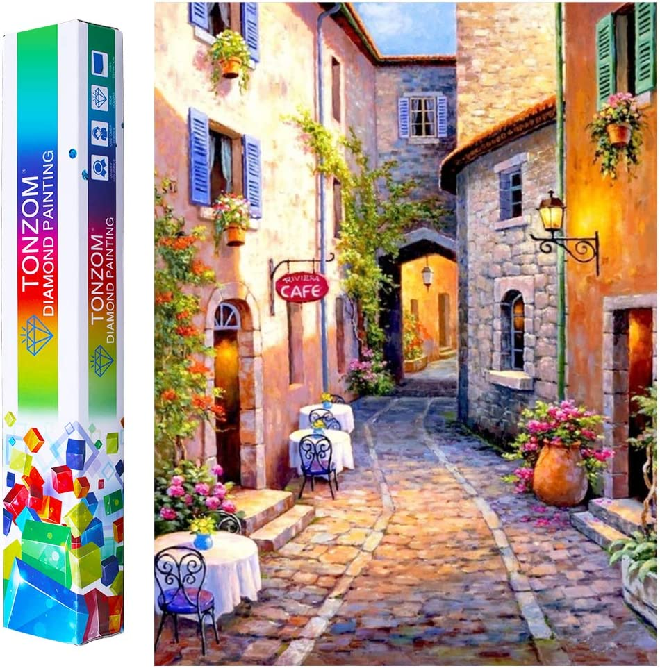 12x12 inch TONZOM DIY 5D Diamond Painting by Number Kits Full Drill Rhinestone Embroidery Cross Stitch Pictures Arts Craft Cat Diamond Painting for Adults