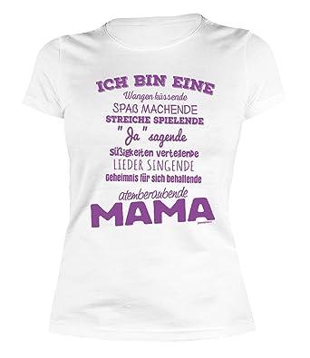 Damen Shirt Mama Sprüche Mutter Sprücheshirt Girlie Ich Bin Eine