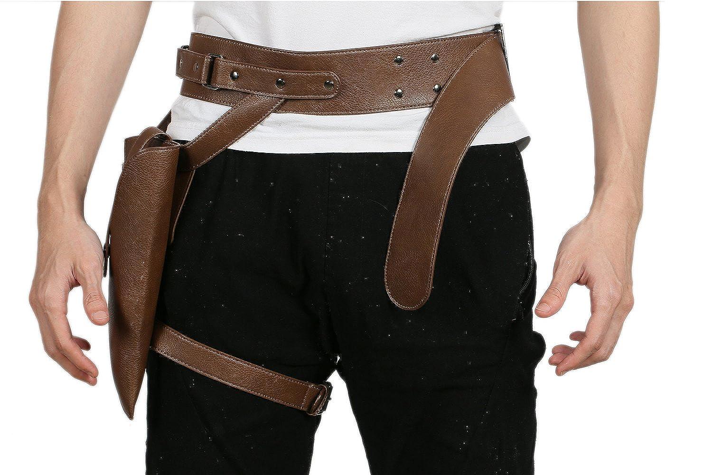Amazon.com: jyn Black PU Cinturón Accesorios de los Trajes ...