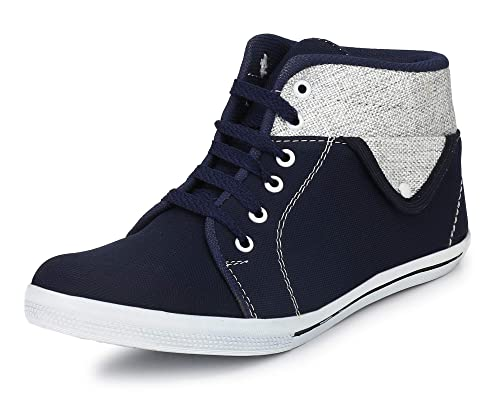 a99549430c3c22 Corstyle Exclusive Men's Smart Fit Trending Casual Canvas Denim Party Wear  Ankle High Fancy Boots: Buy Online at Low Prices in India - Amazon.in