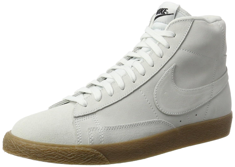 Nike Herren Blazer Mid Hohe Sneaker  44.5 EU|Wei? (Off White/Off White-gum Light Brown)