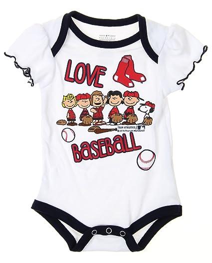 Amazon Com Mlb Boston Red Sox Baby Girls Infants Peanuts Love