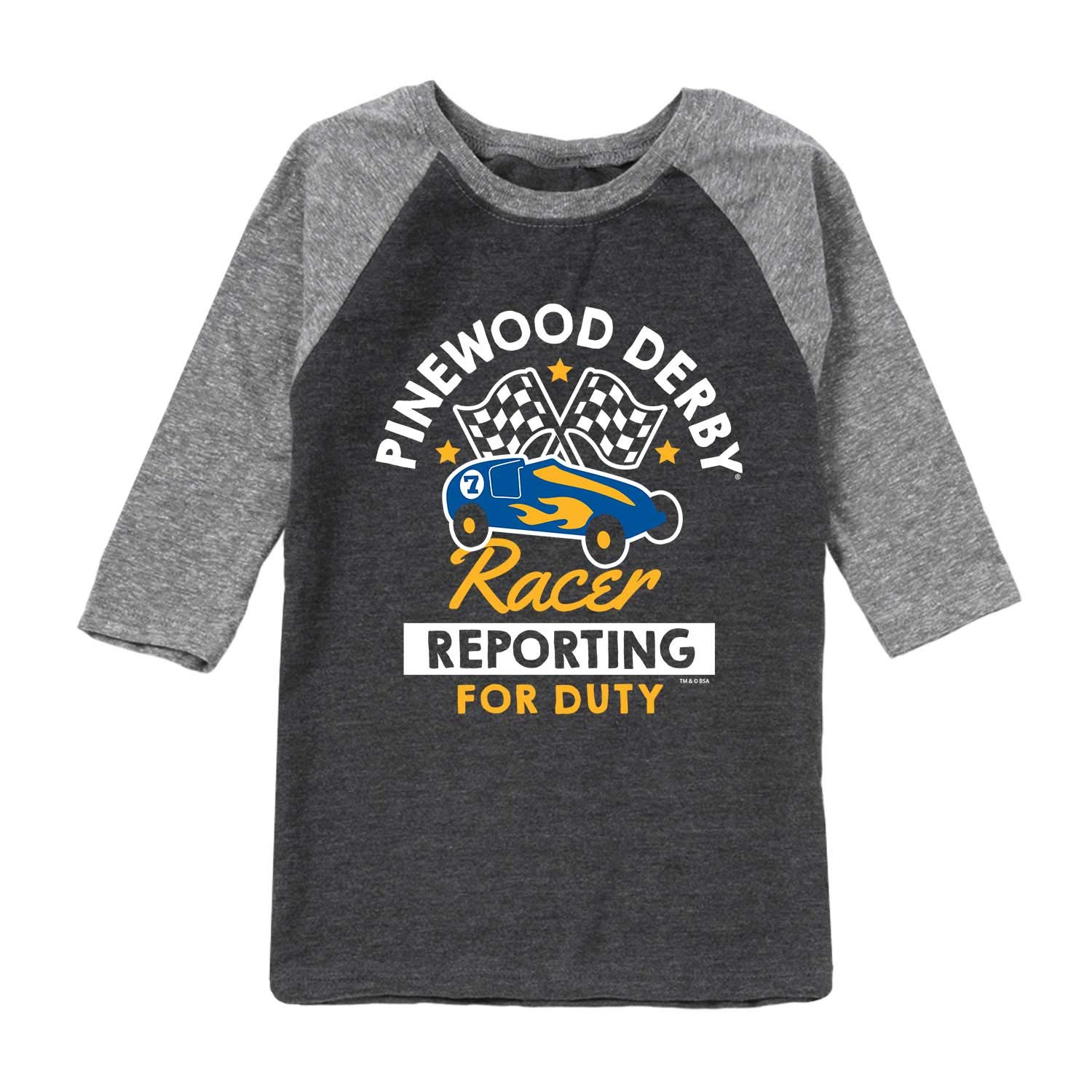 Boy Scouts of America Pinewood Racer Reporting for Duty - Youth Raglan