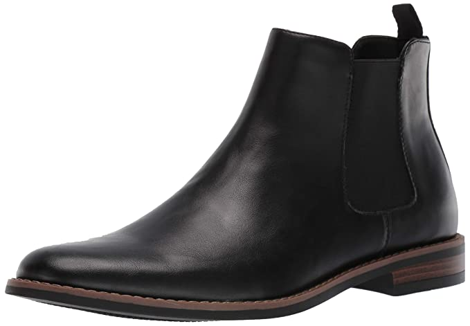 Amazon Essentials Men's Quinton Chelsea Boot, Black, 8.5 Medium US best men's dress boots