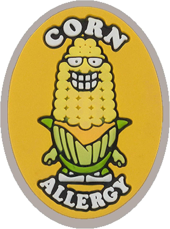 AllerMates Kids Medical Charm - Corn Children's Medic Alert Allergy Awareness Bracelet Accessory