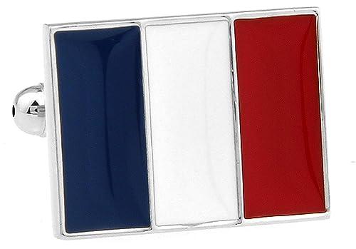 Amazon.com: Bandera de Francia francés para camisa de hombre ...
