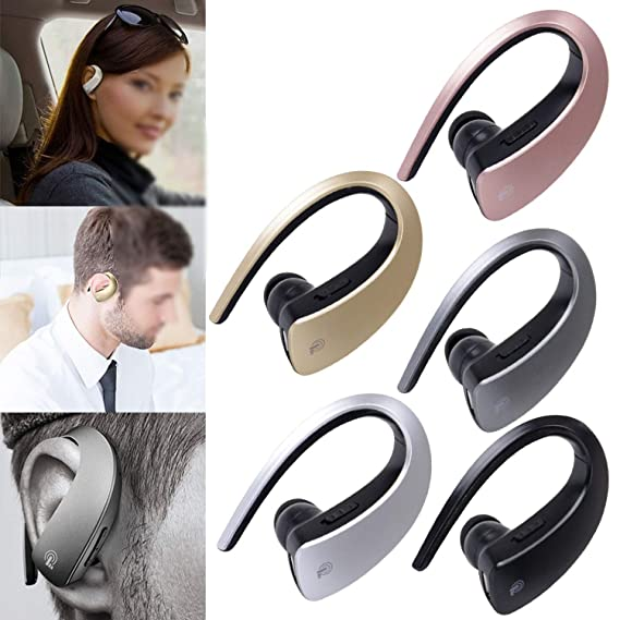 Amazon.com: Good-Memories Mini Bluetooth Headset Portable Wireless Earphone Headphone Blutooth in-Ear Auriculares with Microphone for Mobile Phone,Silver ...