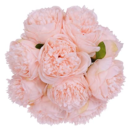 Amazon lvydec vintage peony artificial flowers 2 pack silk lvydec vintage peony artificial flowers 2 pack silk flowers bouquet 10 heads peony fake flowers mightylinksfo