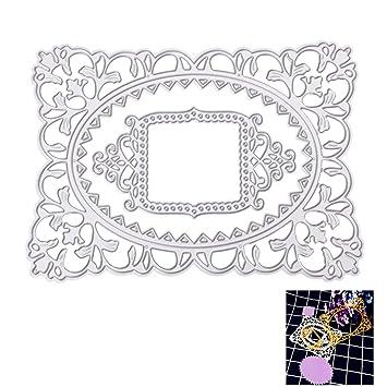 Plantillas de corte plantilla para molde, liyudl DIY Metal repujado plantilla para álbum Scrapbooking tarjeta de papel Arte Manualidades Decoración (marco): ...