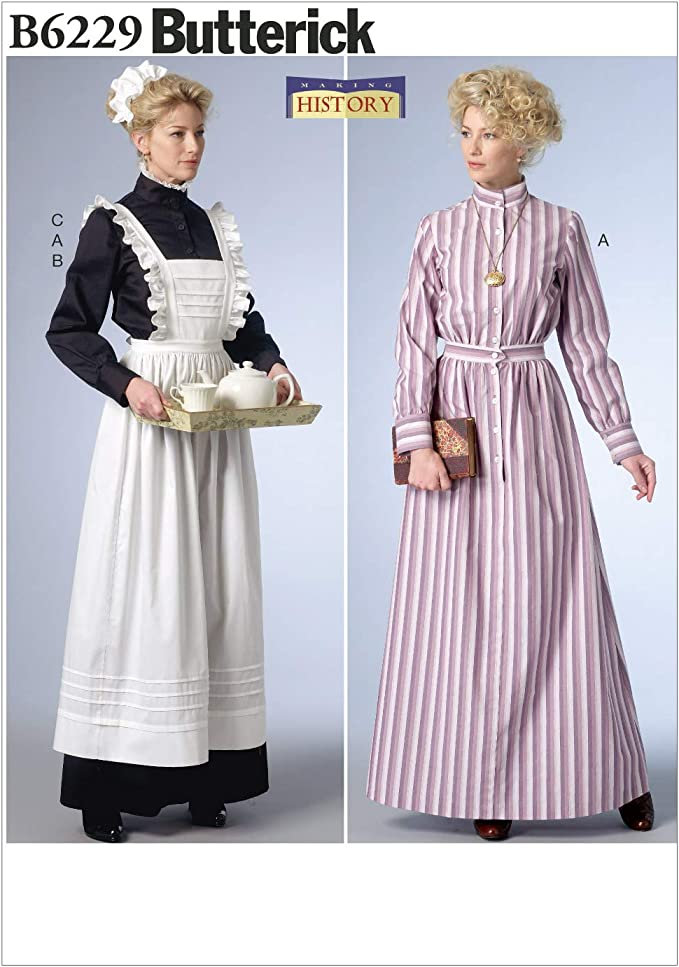 Edwardian Sewing Patterns- Dresses, Skirts, Blouses, Costumes Butterick Patterns 6229 E5Misses CostumeSizes 14-16-18-20-22 £8.00 AT vintagedancer.com