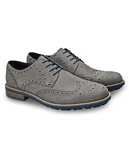 Joe Browns Mens Suede Brogues With Wooden Heel Amazoncouk Shoes