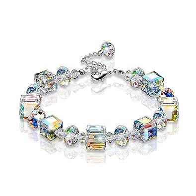 8f9c515edb1a9 KesaPlan Crystal Bracelet A Little Romance Stretch Bracelet Crystals from  Swarovski Adjustable 7