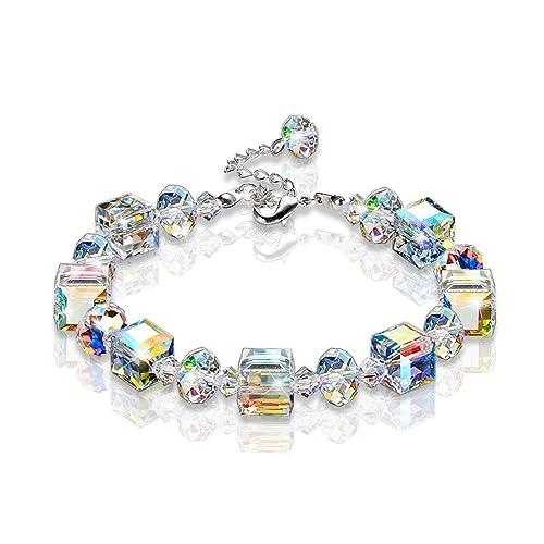 KesaPlan 7 – 9 Bracelet A Little Romance Stretch Bracelet Aurore Boreale Crystals from Swarovski