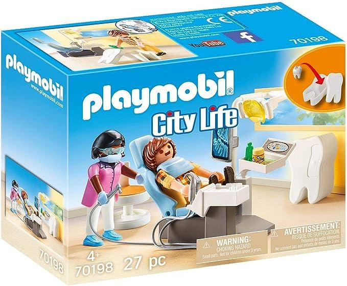 PLAYMOBIL PLAYMOBIL-70198 City Life Dentista, Multicolor, Talla única (70198): Amazon.es: Juguetes y juegos