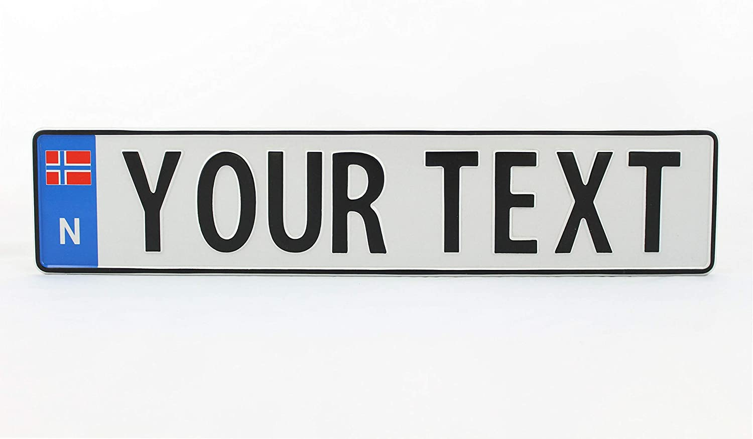 On Cloud 9 Embossed Novelty License Plate