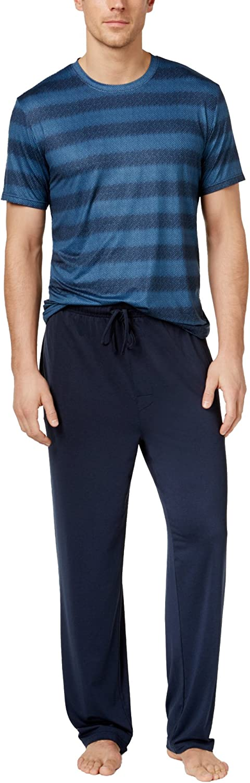 Weatherproof 32 Degrees Cool Men's Crew-Neck T-Shirt and Lounge Pant Pajama Set