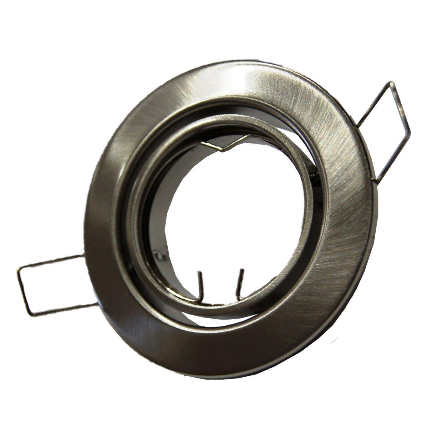50x E4405-5 Metall Einbaustrahler Einbauspot in Eisengebürstet matt ideal für LED