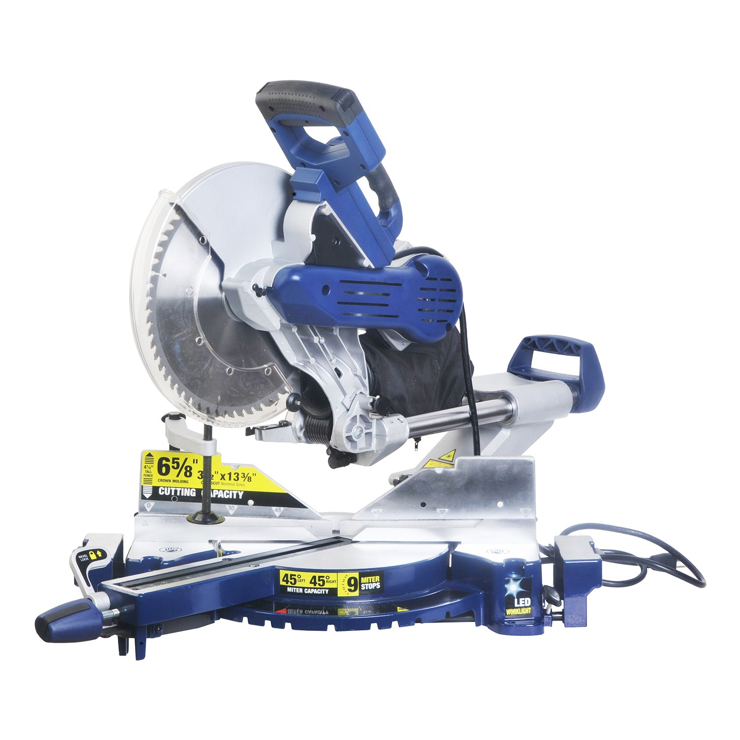 Wonlink 15 Amp 12'' Dual Bevel Sliding Compound Miter Saw with Laser and LED Work Light by Wonlink (Image #5)