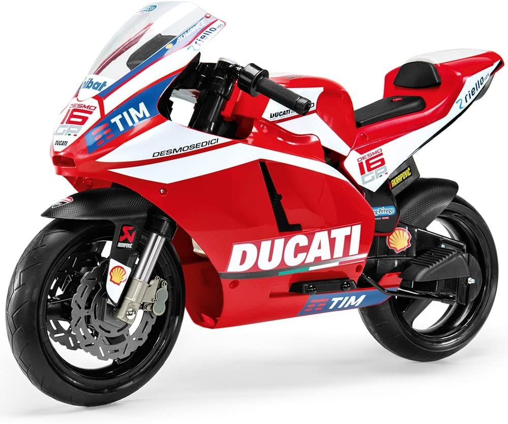 Peg Perego- Ducati GP Motocicleta Eléctrica de 12V, Niños, Color Rojo (MC0020)