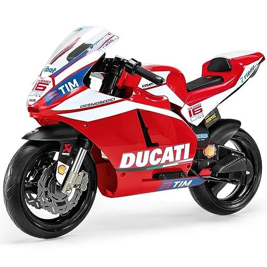 Peg Perego- Ducati GP Motocicleta Eléctrica de 12V, Niños ...