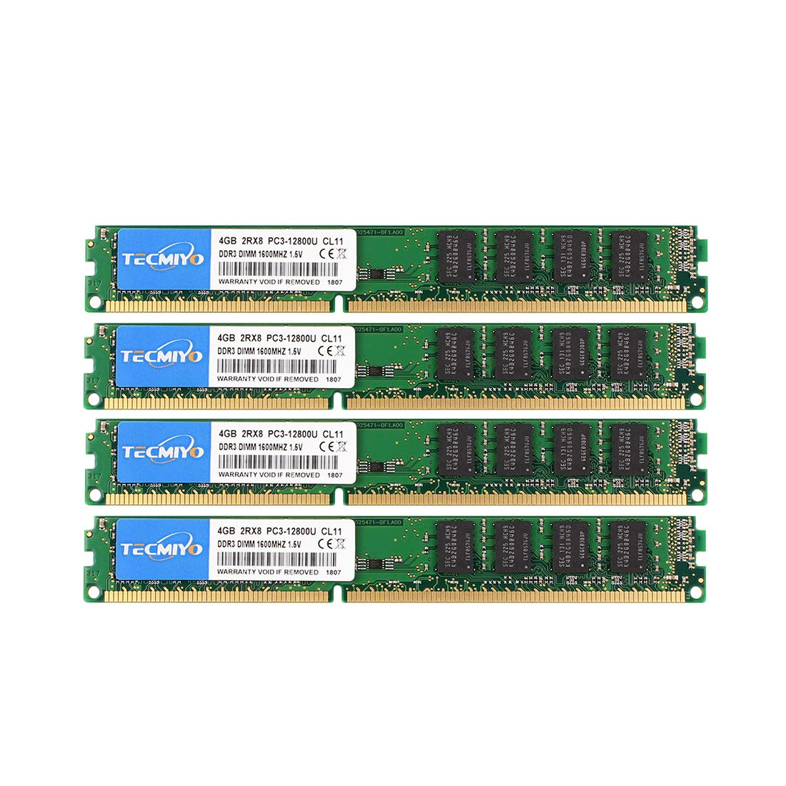 Memoria Ram 16GB (4X4GB) DDR3 1600MHZ PC3-12800 TECMIYO