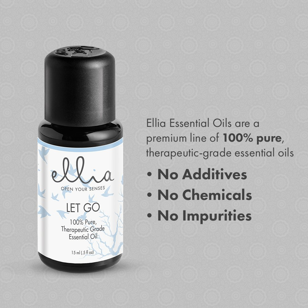 Let Go Blend Aromatherapy Essential Oil | 15 mL, 100% Pure, Therapeutic Grade Aromatherapy | Eases Stress, Calms, and Relaxes, Use in Diffuser or Topically on Skin, Peppermint, Lavender, Basil | Ellia by Ellia (Image #4)