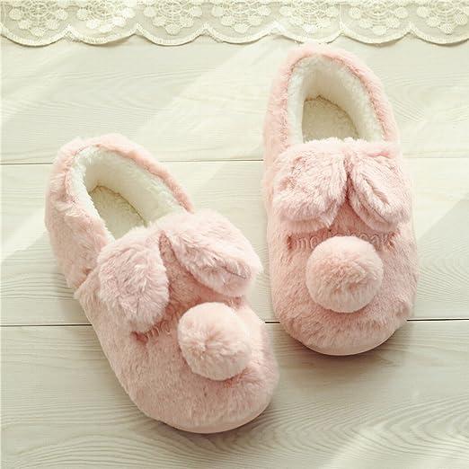 Zapatillas de Algodón de Otoño Invierno Zapatillas de Algodón de ...