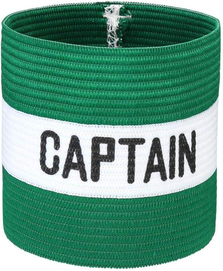 VerteLife Brazalete de Capitán de Fútbol Clásico, Elastico Capitán Brazalete para Adultos y Niños, Apto para Varios Deportes - Verde, Talla única: Amazon.es: Deportes y aire libre