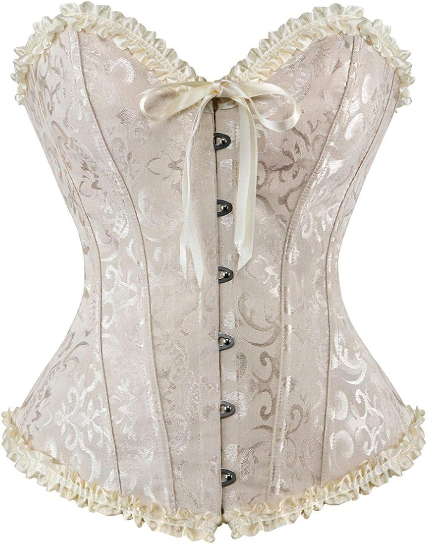 Details about  /Satin Floral Gothic Bustier Top Lace Up Waist Cincher Underbust Boned Corset US