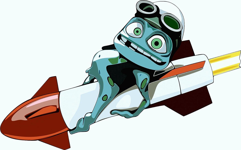 Crazy Frog Cartoon De Haute Qualite Pare-Chocs Automobiles Autocollant 12 x 8 cm