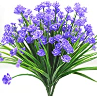 Warmter 4pcs artificiale con fiori, piante e arbusti, babies Breath Real touch fiori, casa e ufficio, decorazione di nozze cimitero all' aperto