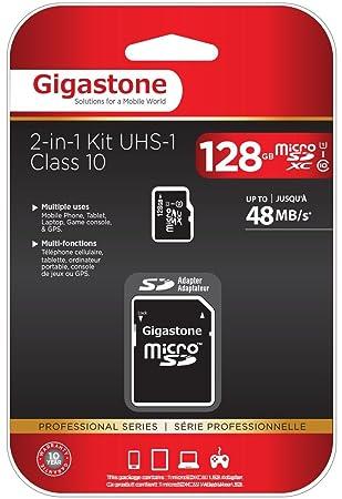 Tarjeta 128GB microSD Gigastone HC de Clase 10 (C10 U1) de ...