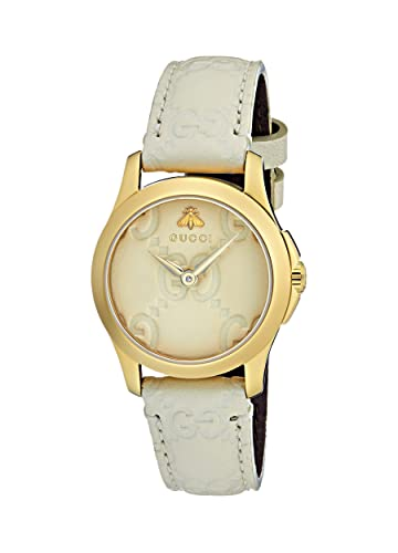 ec8d36212e3 Gucci Womens Analogue Classic Quartz Watch with Leather Strap YA126580   Amazon.co.uk  Watches