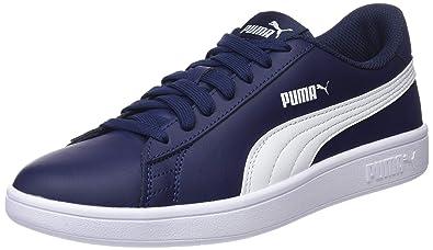 PUMA Smash v2 L Low Boot Sneaker Weiss Schwarz Schuhe, Größe:42