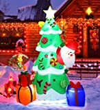MAOYUE Christmas Inflatables 7ft Christmas Decorations Outdoor Inflatable Christmas Tree Blow Up Christmas Decorations…