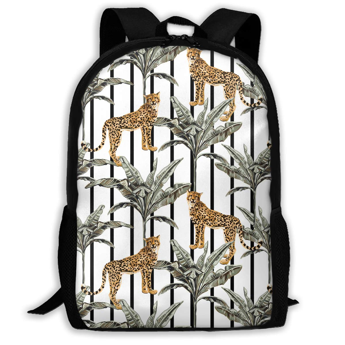 d42f786a6d1a Amazon.com : Leopard Toucan Exotic Bird Palm Trees Pattern ...