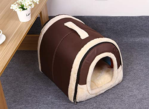 Haresle Portable Small Pet House Soft Bed Cat House Washable with Removable Cushion 2 Sizes