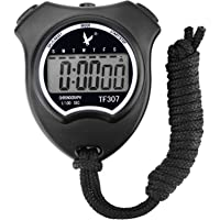 Leap Digital Sport Stopwatch Timer with Large LCD Display, Black