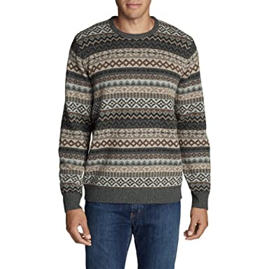 Eddie Bauer Men's Fair Isle Crew Sweater at Amazon Men's Clothing ...