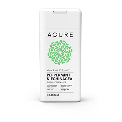 Acure Vivacious Volume Peppermint Shampoo, 12 Fluid Ounces