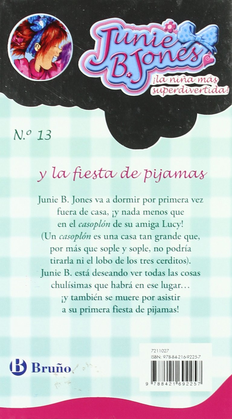 Amazon.com: Junie B. Jones y la fiesta de pijamas/ Is a Party Animal (Spanish Edition) (9788421692257): Barbara Park, Denise Brunkus, Begona Oro Pradera: ...