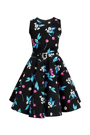 BlackButterfly Kinder 'Audrey' Vintage Joy Kleid im 50er-J-Stil (Schwarz