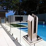 Stainless Steel Glass Clamp, Glass Spigot for Balusters Railing Post/Balcony/Terrace/Handrail Banister/Pool Frameless…