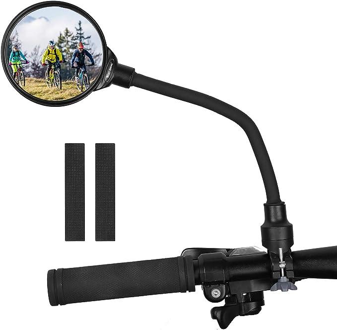 USA Rotary Handlebar Glass Plug Rear View Mirror Road Bike Bicycle Universal