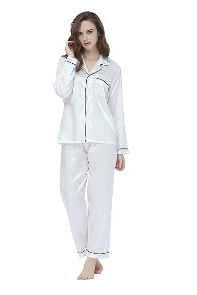 TONY&CANDICE - Pijama - para Mujer Blanco Blanco XL