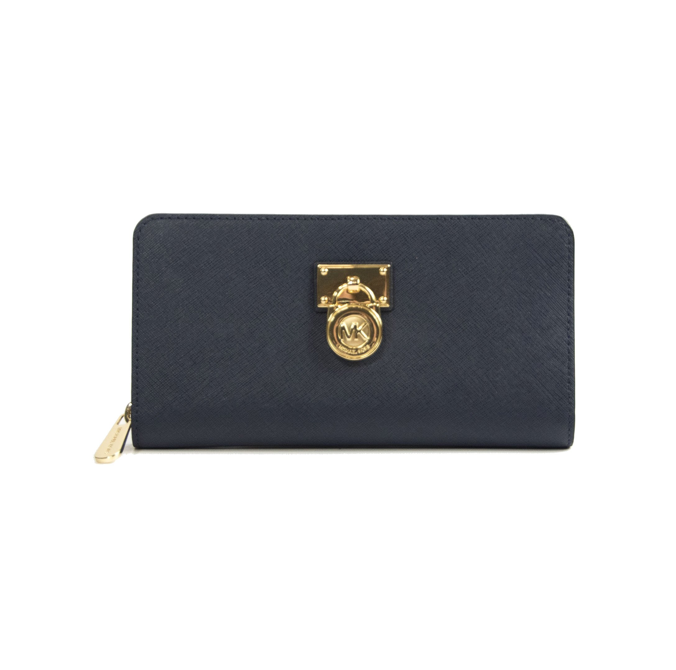 Michael Kors Navy Saffiano Leather Hamilton Travel Wallet by Michael Kors
